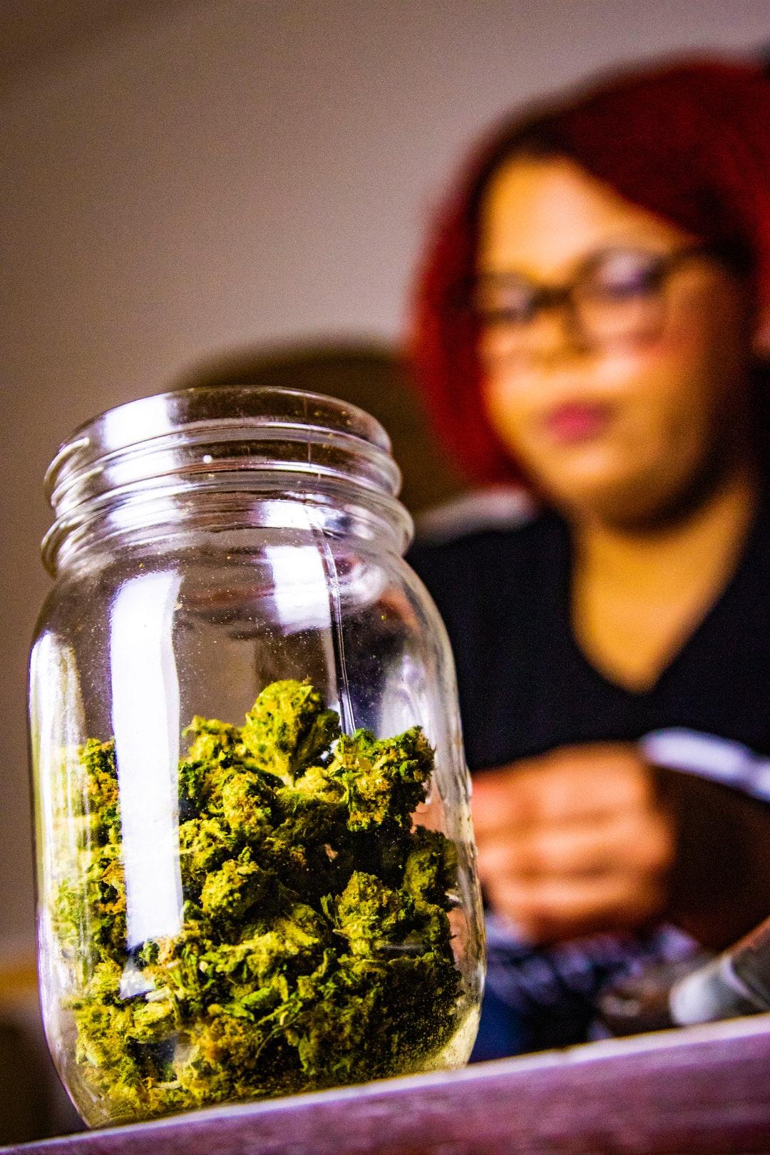 jar of weed